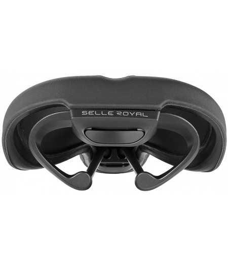 Седло Selle Royal SCIENTIA R1 Relaxed, 3D skingel, обивка Black gummy/Black mokka, unisex, чёрное 1