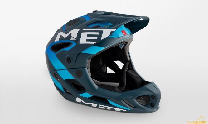 Шлем MET Parachute Blue Shaded Cyan Matt