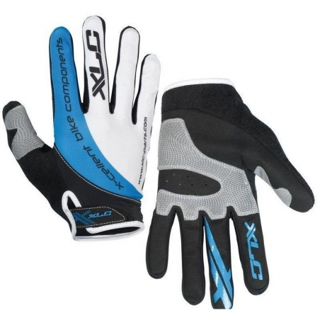 Перчатки XLC Mercury черно-серо-синие