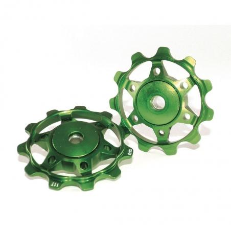 Ролики заднего переключателя XLC, зеленые