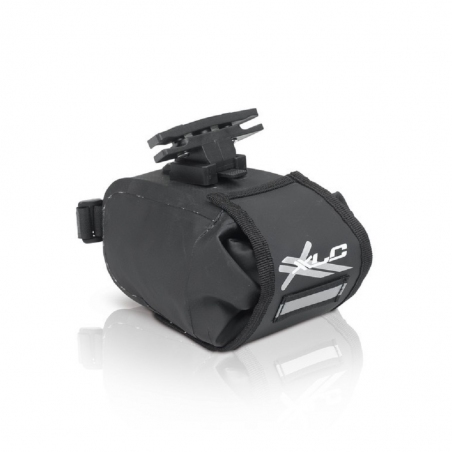 Сумка подседельная XLC BA-W22, черно-серая, 13,5x9x9 см