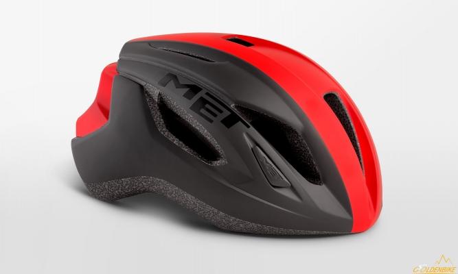 Шлем MET Strale Black Red Panel Matt
