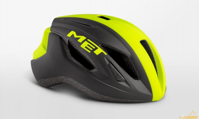 Шлем MET Strale Black Safety Yellow Panel Matt