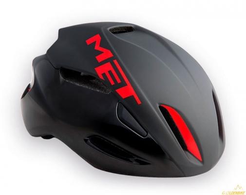Шлем MET MANTA black red