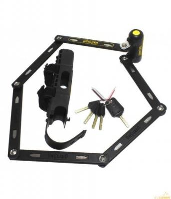 Замок складной ONGUARD Revolver Link Plate X4P 112см. 4 ключа + 1 с подсветкой
