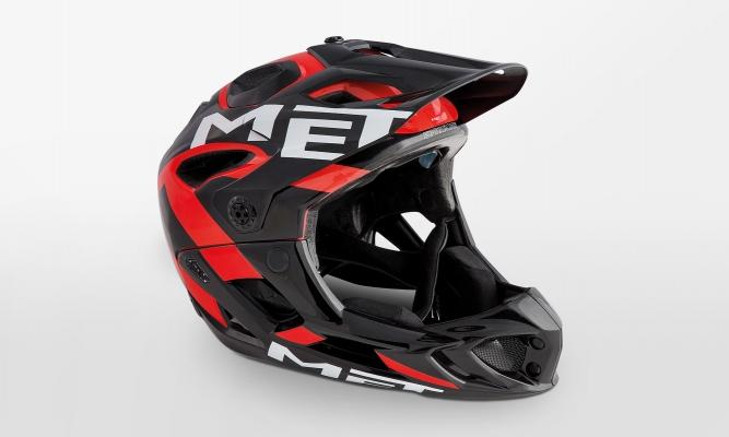 Шлем MET Parachute Black Red Glossy