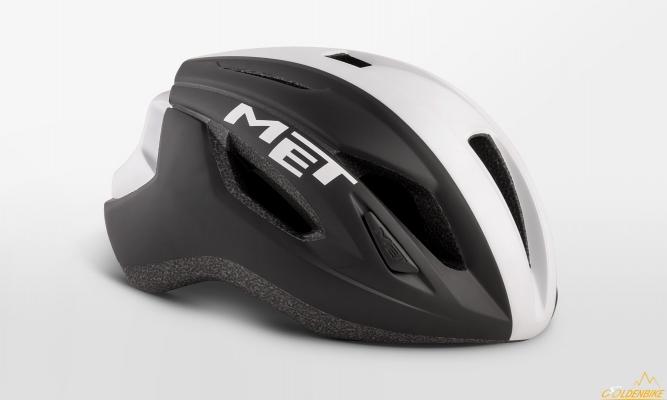 Шлем MET Strale Blak White Panel Matt