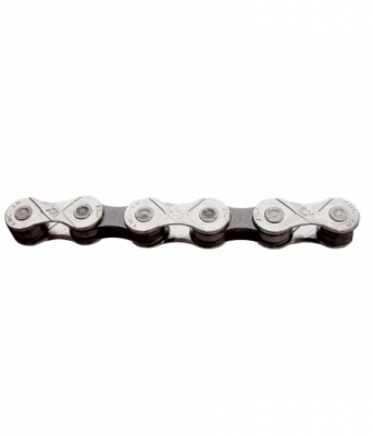 Цепь инд. 116 зв. 1/2x11/128 KMC X9 silver/dark silver