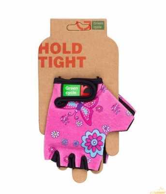 Перчатки Green Cycle NC-2338-2014 Kids без пальцев розовые