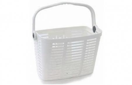 Корзина BELLELLI PLAZA BIANCO белый пластиковая с креплением на руль