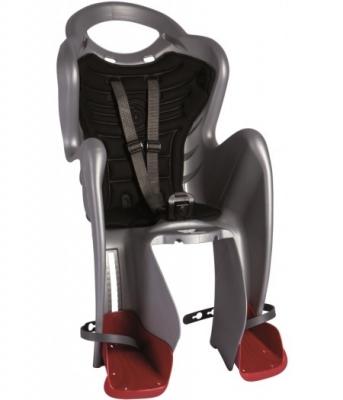 Сиденье задн. Bellelli MR FOX Сlamp (на багажник) до 22кг, серебристое с чёрной подкладкой