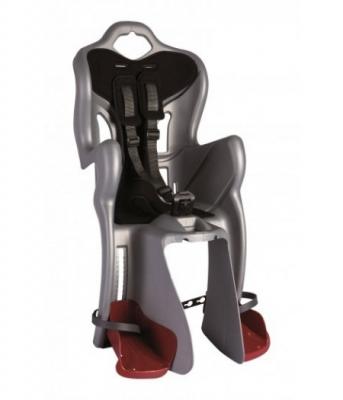 Сиденье задн. Bellelli B1 Standart до 22кг, серебристое с чёрной подкладкой