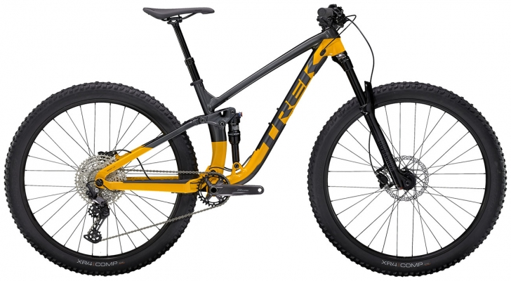 Велосипед Trek Fuel EX 5 (Grey/Marigold) 2021