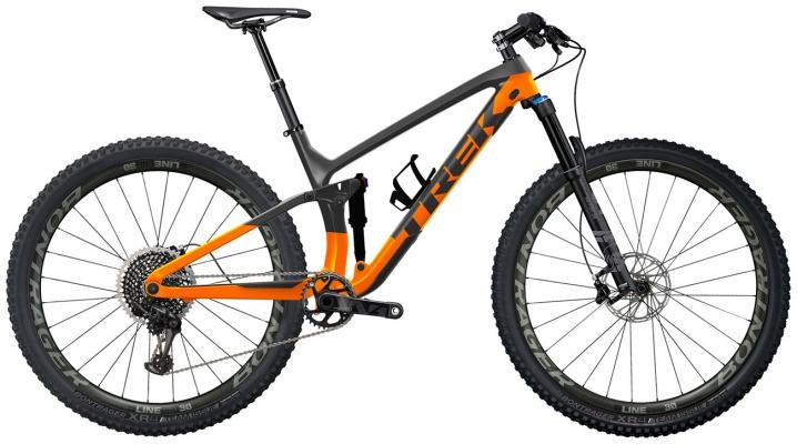 Велосипед Trek Fuel EX 9.7 (Grey/Orange) 2021