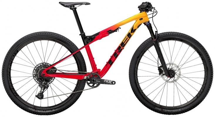 Велосипед Trek Supercaliber 9.7 (Marigold/Red) 2021