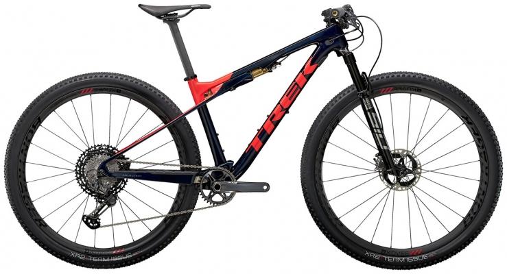 Велосипед Trek Supercaliber 9.9 XTR (Blue/Coral) 2021