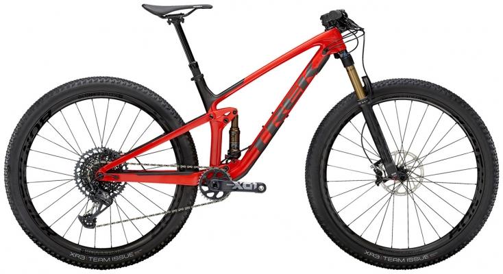 Велосипед Trek Top Fuel 9.9 X01 (Red/Carbon) 2021