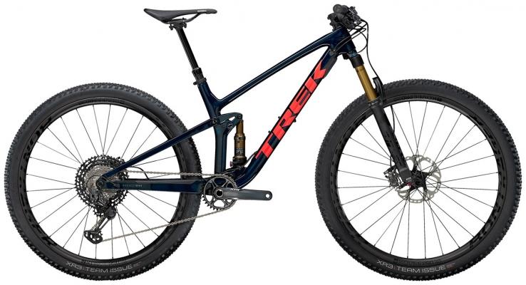 Велосипед Trek Top Fuel 9.9 XTR (Blue/Coral) 2021