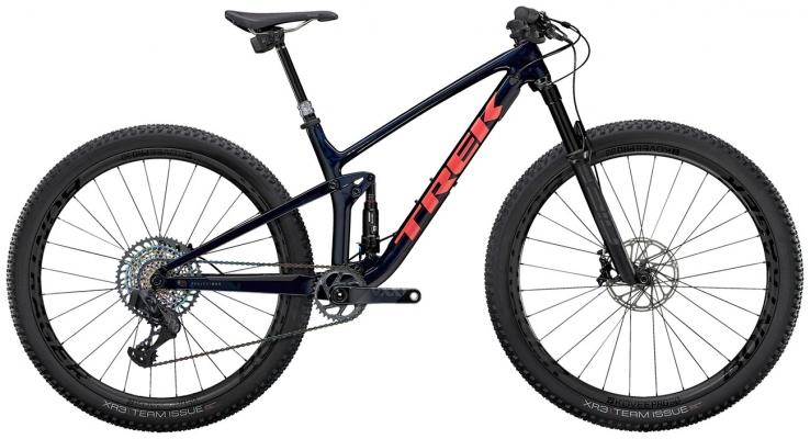 Велосипед Trek Top Fuel 9.9 XX1 AXS (Blue/Coral) 2021